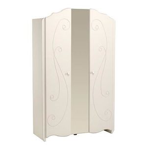 armoire 2 portes laque blanc achat vente armoire 2 portes laque blanc pas cher cdiscount. Black Bedroom Furniture Sets. Home Design Ideas