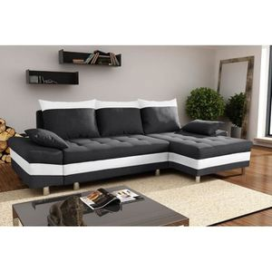 Canape cuir 4 places convertible achat vente canape - Cherche canape convertible pas cher ...