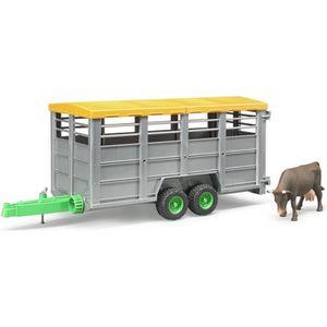 REMORQUE - CHARIOT BRUDER 2227 Remorque bétaillère avec vache
