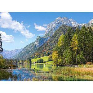 PUZZLE Puzzle 3000 pièces - Refuge au pied des Alpes