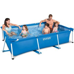 PISCINE INTEX Piscine rectangle tubulaire en métal Frame J