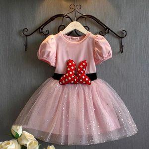 ROBE Rose Bébés filles habillent Minnie Mouse robes pou