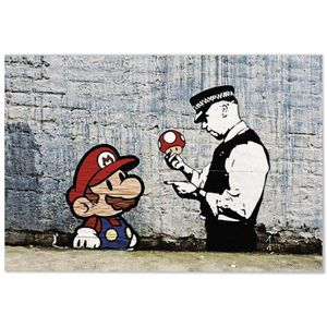 AFFICHE - POSTER Panorama® Poster Graffiti Banksy Super Mario Bros