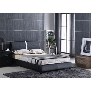 cadre de lit 160x200 sans sommier achat vente cadre de. Black Bedroom Furniture Sets. Home Design Ideas