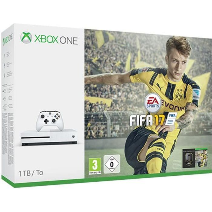 pack xbox one s 1to fifa 17 achat vente console xbox. Black Bedroom Furniture Sets. Home Design Ideas