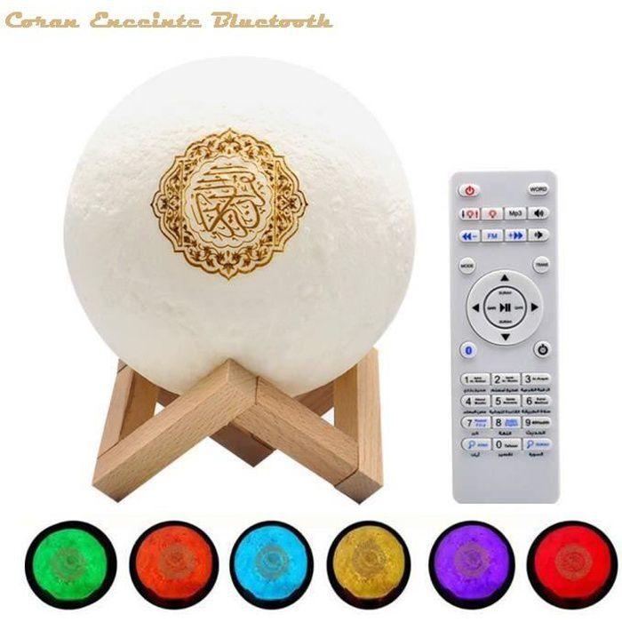 Enceinte Bluetooth Coran Touch LED Lamp Portable Haut-Parleur Islamique Musulman Radio FM Lecteur MP3
