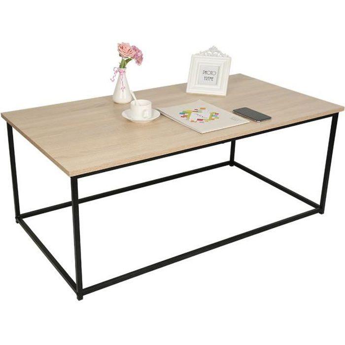 LUXS Tables basses de salon Table basse design moderne, Chêne clair, 113 x 60 cm, en bois