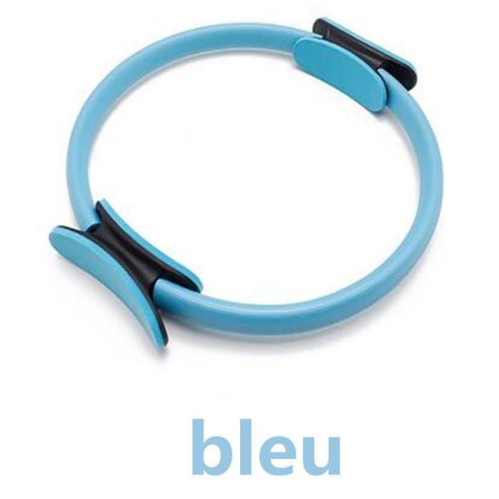 Qualité Yoga Pilates anneau magique enveloppement minceur musculation formation robuste PP + NBR matériel Yoga cercle-bleu