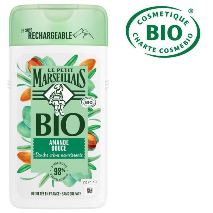 LE PETIT MARSEILLAIS Crème de douche Bio Nourrissante Amande douce - 250 ml