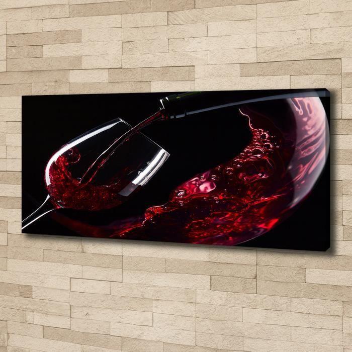 Tulup 125x50 cm art mural - Image sur toile:- Nourriture boissons - Vin Rouge - Rouge