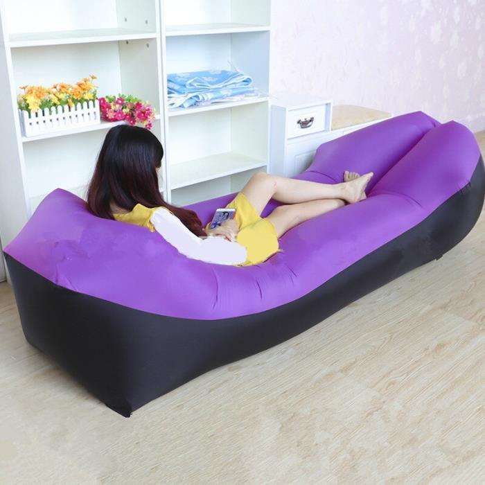 Oreiller paresseux imperméable canapé gonflable paresseux Portable extérieur plage air canapé lit sac de couchage lit [8019DAA]