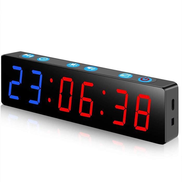 CHRONOMETRE Fitness Minuteur Portable Mini Timer Sport sans Fil Fixation Magn&eacutetique Minuteurs Musculation Horloge Tabata 20