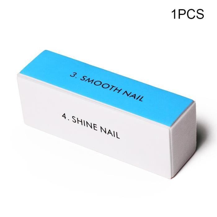 4 -Limes à ongles professionnelles lavables en forme de demi lune, double face montée sur tampon, pour limage et polissage, outil de
