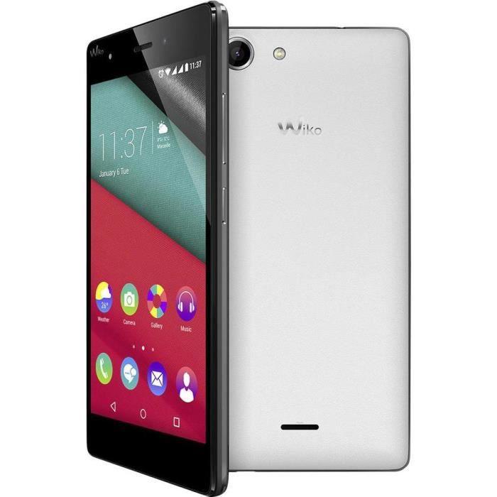 WIKO Pulp Smartphone double SIM 12.7 cm (5 pouces) 1.4 GHz Octa Core 16 Go 13 MPix Android™ 5.1 Lollipop blanc