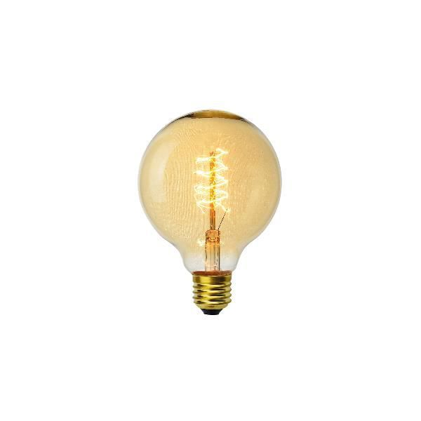 Ampoule décoart incandescente vintage Edison G95 globe 40W E27 2350K