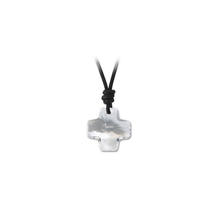 Collier Croix en Cristal Blanc de Swarovski Elements