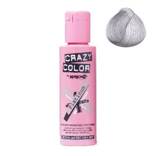 Coloration cheveux semi-permanente CRAZY COLOR PLATINIUMPour un look FUN et des cheveux aux couleurs vives et originales !Les