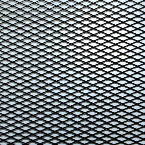 GRILLE ALU MAILLE MOYENNE NOIR 20X120