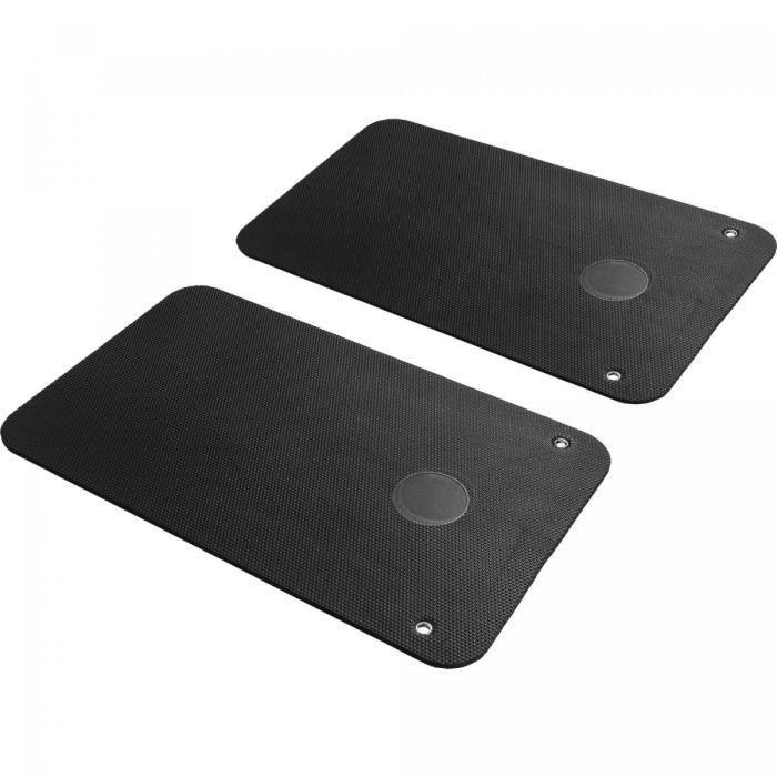 Paire de Tapis de Yoga Noir à Œillets 101 x 60 x 1cm