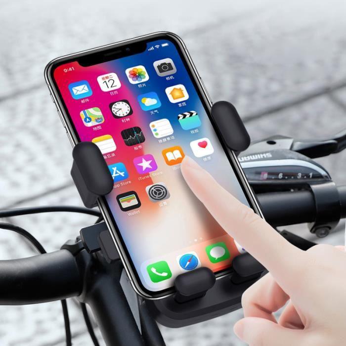 Support Téléphone Vélo, Vélo Électrique Universel et Support de Moto Guidon avec 360° Rotation Pour 4,7-6,5 Pouces Smartphones -Gris
