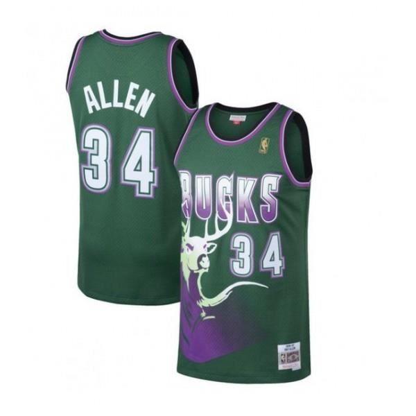 Maillot NBA Ray Allen Millwaukee Bucks 1996-97 Mitchell amp ness Hardwood Classic swingman vert