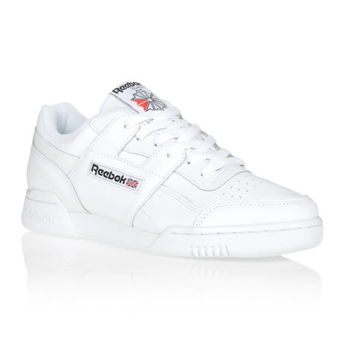 Basket Reebok WORKOUT PLUS Blanc/Noir