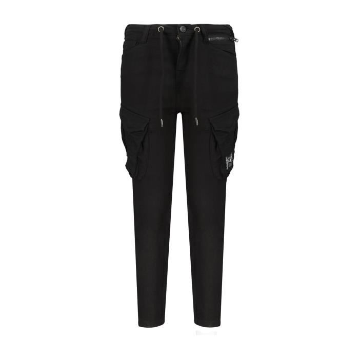 DEELUXE Pantalon cargo coupe tapered WILLY Black
