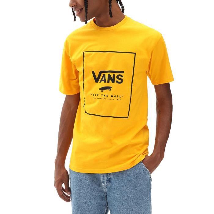 Vans T-Shirt pour Homme Classic Print Box Jaune VN0A5E7YZ5K
