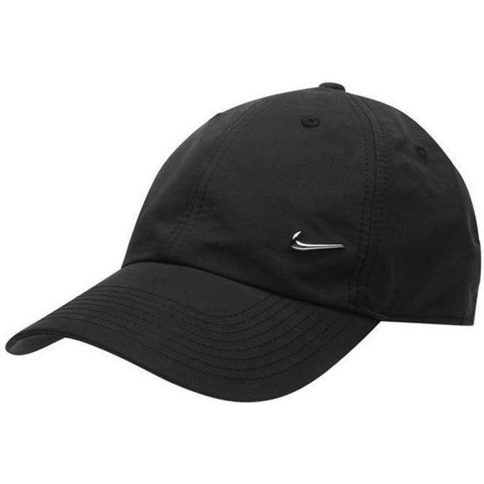 Casquette Noire Homme Nike Logo en Métal