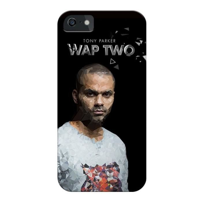 WT Coque de protection Tony Parker pour Samsung Galaxy Core Prime - Rigide - Décor Design