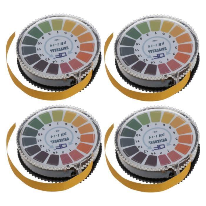 4 rouleaux de de test de pH précises Papier de à base d'acide utile de précis 0-14 Pratique