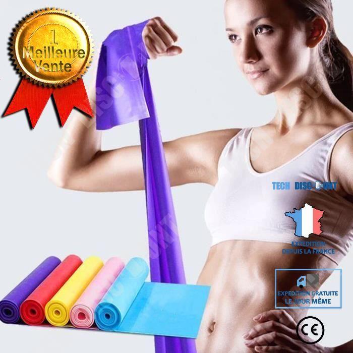 TD® Bande Élastique de Résistance- Fitness Équipement d'Exercices pour Fitness, Yoga, Entrainement Crossfit, Musculation Violet