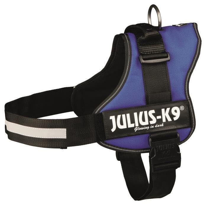 Harnais Power Julius-K9 - 3 - XL : 82-118 cm-50 mm - Bleu - Pour chien