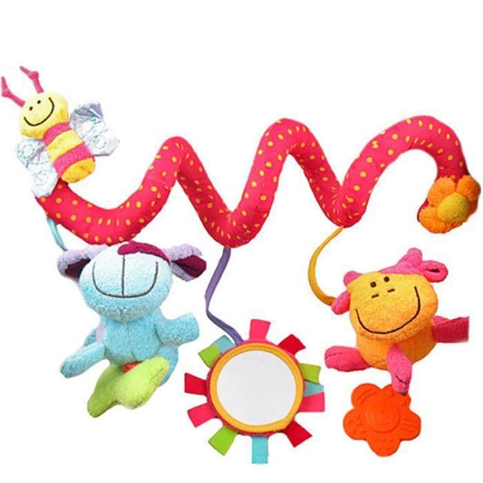 Vococal® Lit bébé jouet en peluche Spirale Jouets Pour bebe poussette et Lit