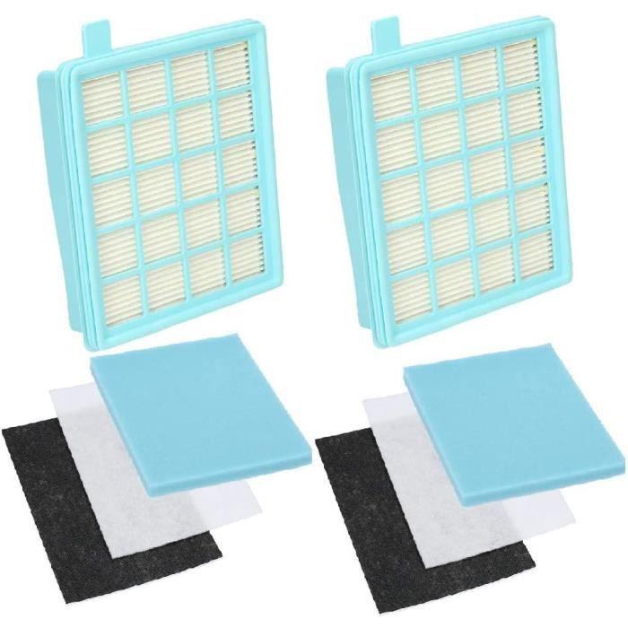 Wessper Lot de 2 : Kit de Filtres pour Les Aspirateurs Philips PowerPro Active et PowerPro Compact (Alternative à FC8058 01)