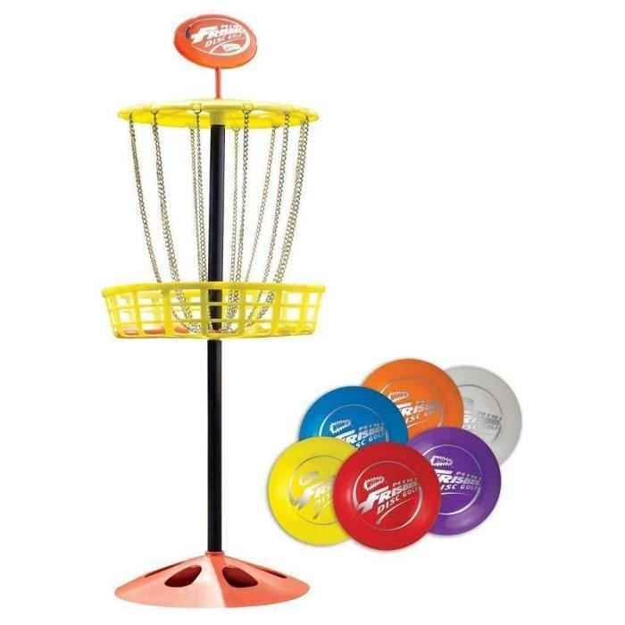 Wham-o Mini-golf frisbee disque intérieur et extérieur jouets Set TSNVK
