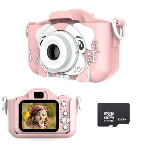 Appareil Photo Enfants - Appareil Photo Numérique pour Enfants avec 2.0 Pouces Grand écran 1080P HD 12MP Carte SD 32 Go Intégré