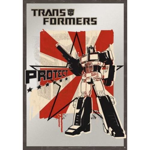 transformers poster grand format protect 187 achat vente affiche abs cdiscount. Black Bedroom Furniture Sets. Home Design Ideas