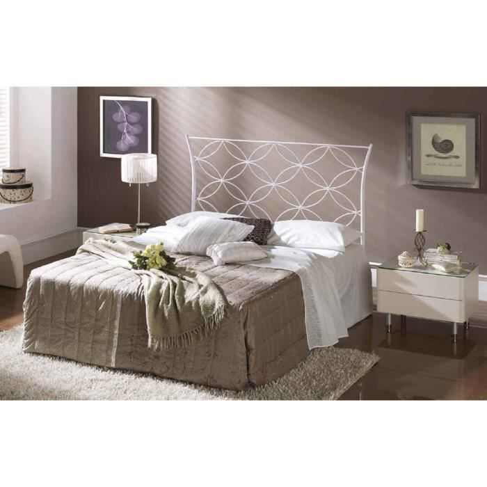 t te de lit en fer forg mod le bordeaux achat vente t te de lit cdiscount. Black Bedroom Furniture Sets. Home Design Ideas