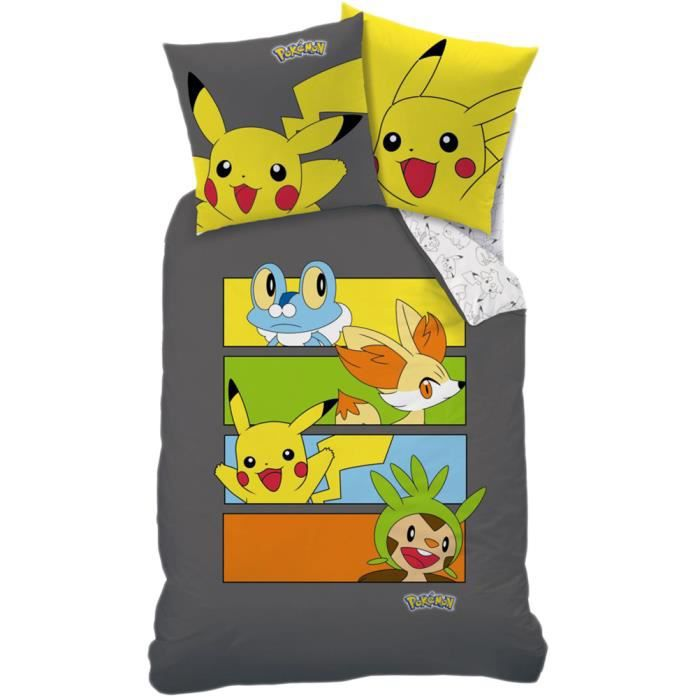 parure de lit pokemon achat vente parure de drap. Black Bedroom Furniture Sets. Home Design Ideas