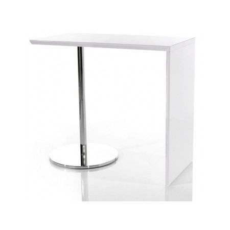 Table de bar tomy blanc laqu achat vente mange debout for Table de bar haute but