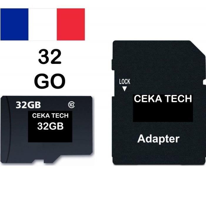 Carte Memoire Compatible Samsung Galaxy A10 Ceka Tech Micro Sd 32go Classe 10 Avec Adaptateur Sd Achat Vente Carte Memoire Cdiscount