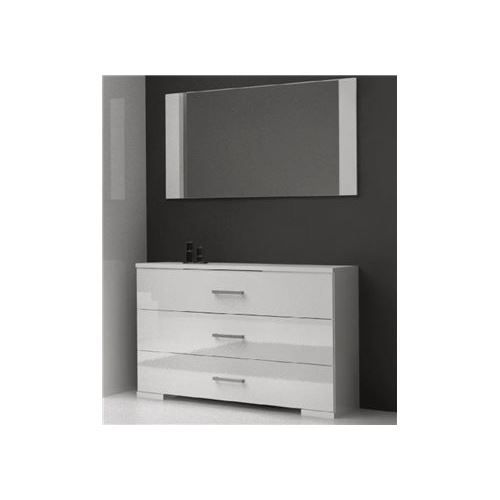 commode nali 3 tiroirs avec miroir achat vente commode de chambre commode nali 3. Black Bedroom Furniture Sets. Home Design Ideas