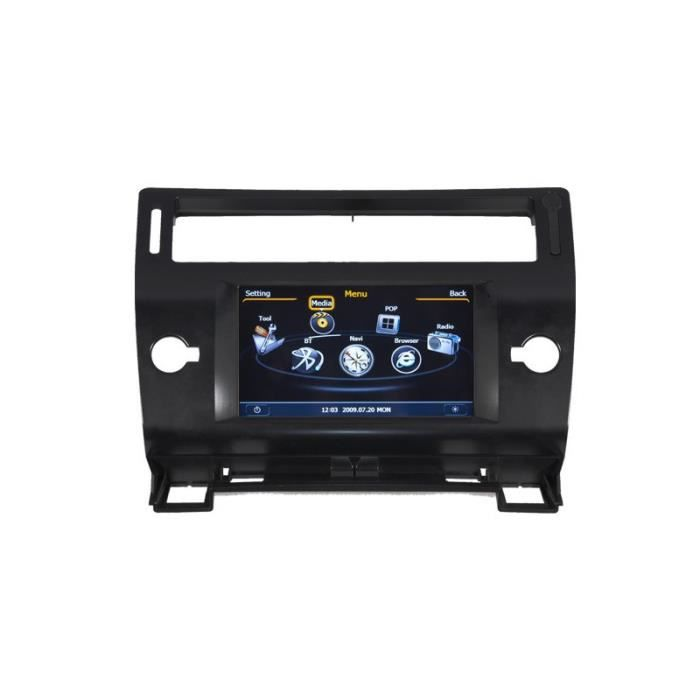 autoradio gps bluetooth pour citroen c4 facade noire achat vente autoradio autoradio gps. Black Bedroom Furniture Sets. Home Design Ideas