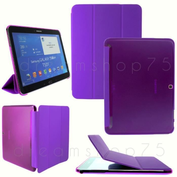 housse coque flip cover samsung galaxy tab 4 10 1 violet. Black Bedroom Furniture Sets. Home Design Ideas