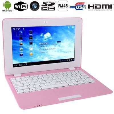 netbook pink android 4 hdmi wifi sd mmc prix. Black Bedroom Furniture Sets. Home Design Ideas