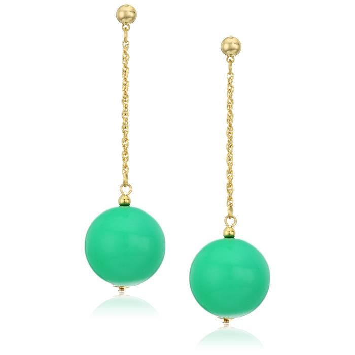 Kenneth Jay Lane Polished Gold Chain Ball Drop Post Drop Earring ST25R
