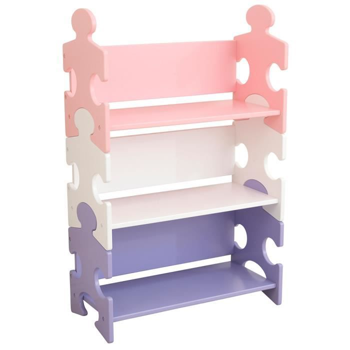 etag re de rangement enfant puzzle en bois pastel achat. Black Bedroom Furniture Sets. Home Design Ideas