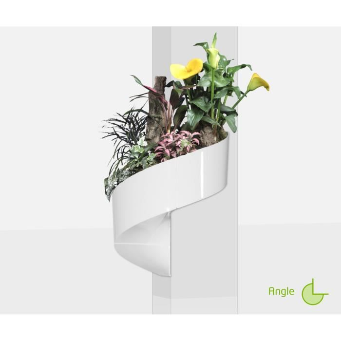 Modul 39 green pot pour plantes mural design int rieur ext rieur 3 modules blanc achat for Pot de plante design