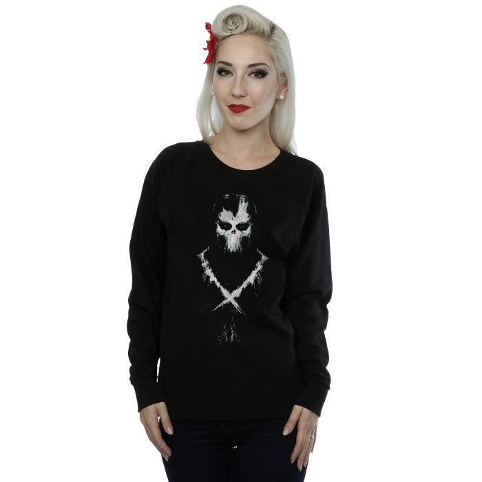 b0516ce90bc78 Marvel Femme Captain America Civil War Crossbones Sweat-Shirt Noir ...